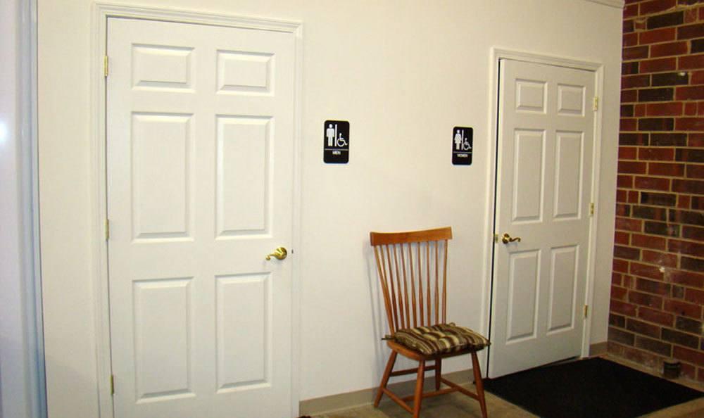 Bathrooms at the Greensboro, NC storage units.