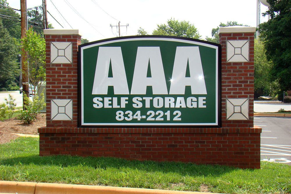 The sign at our Greensboro self storage