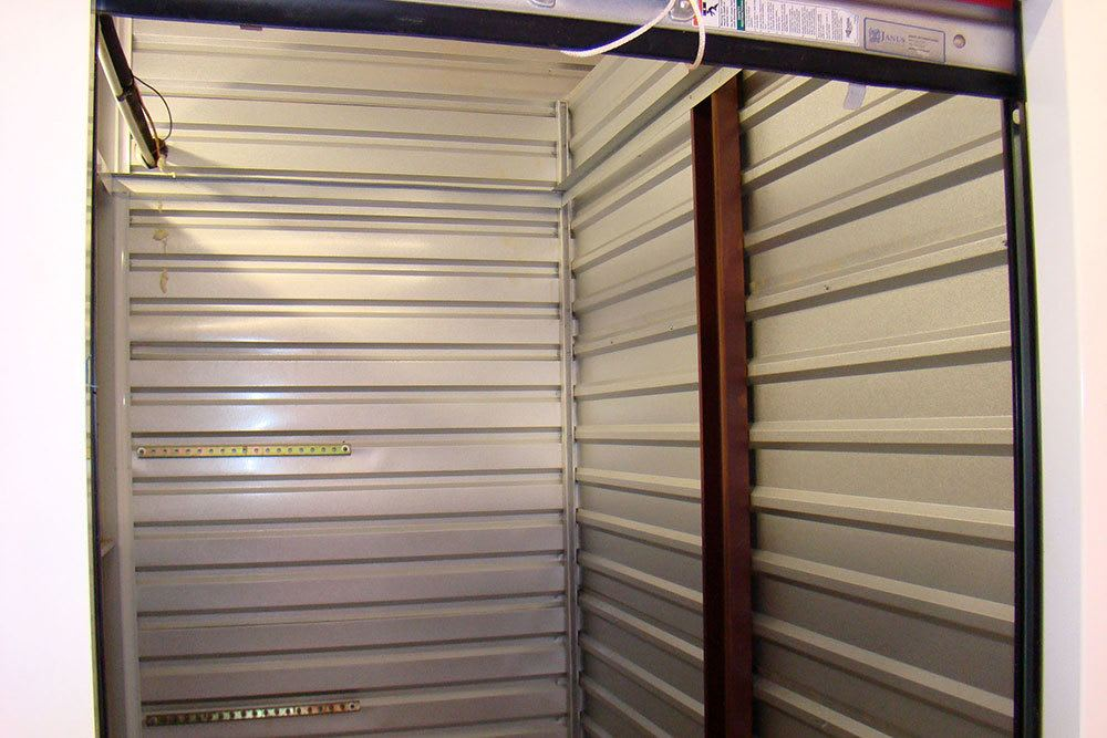 View inside one of our clean storage units
