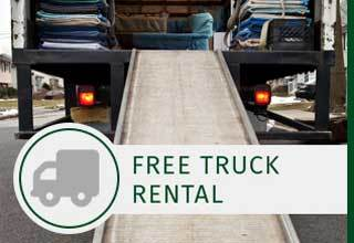 AAA Self Storage at W Market St free truck rental at Greensboro, NC self storage