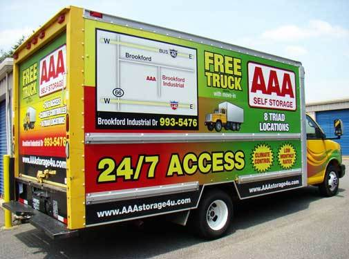 Free truck rentals at all AAA Self Storage locations