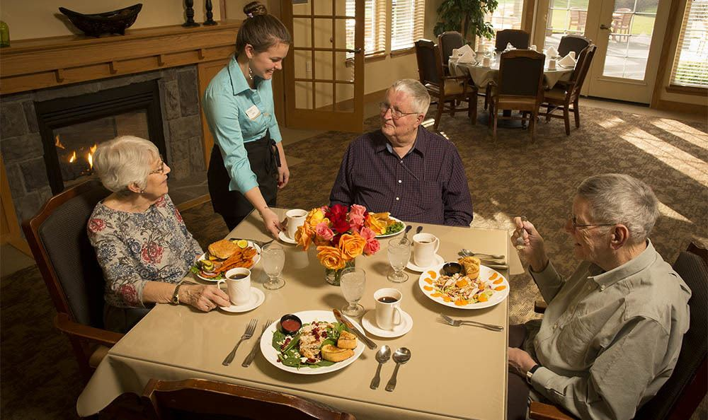 Enjoy a fancy feast at our senior living facility in Milwaukie, OR