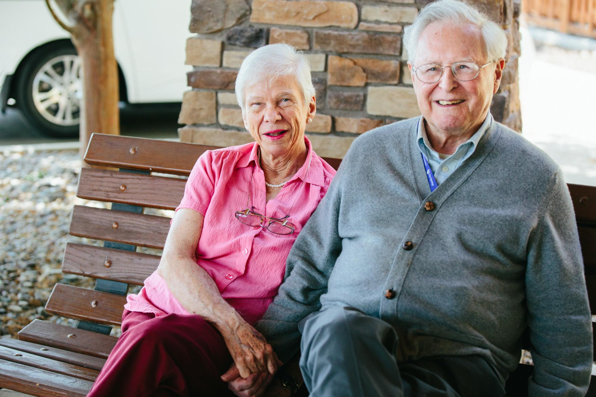 Residents enjoy a quiet moment together in Missoula