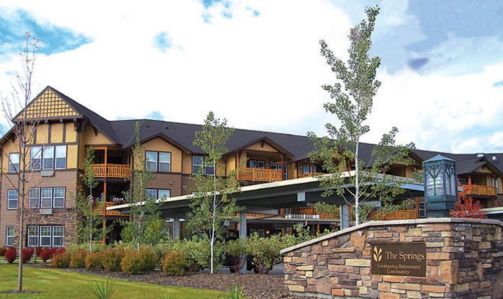 Front exterior of our senior living facility in Missoula, MT