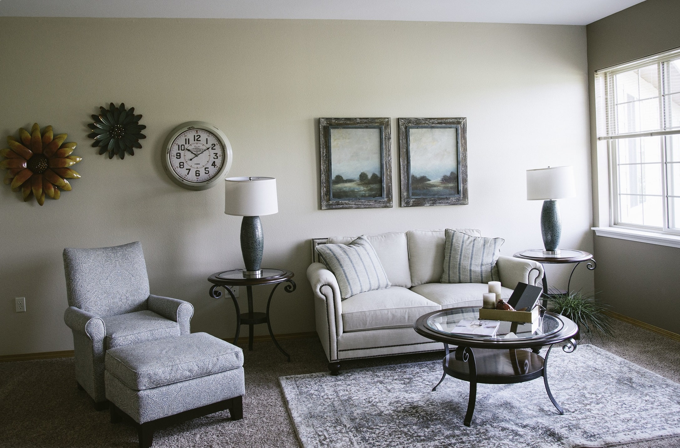 Living space of a resident apartment in our senior living facility in Whitefish, MT