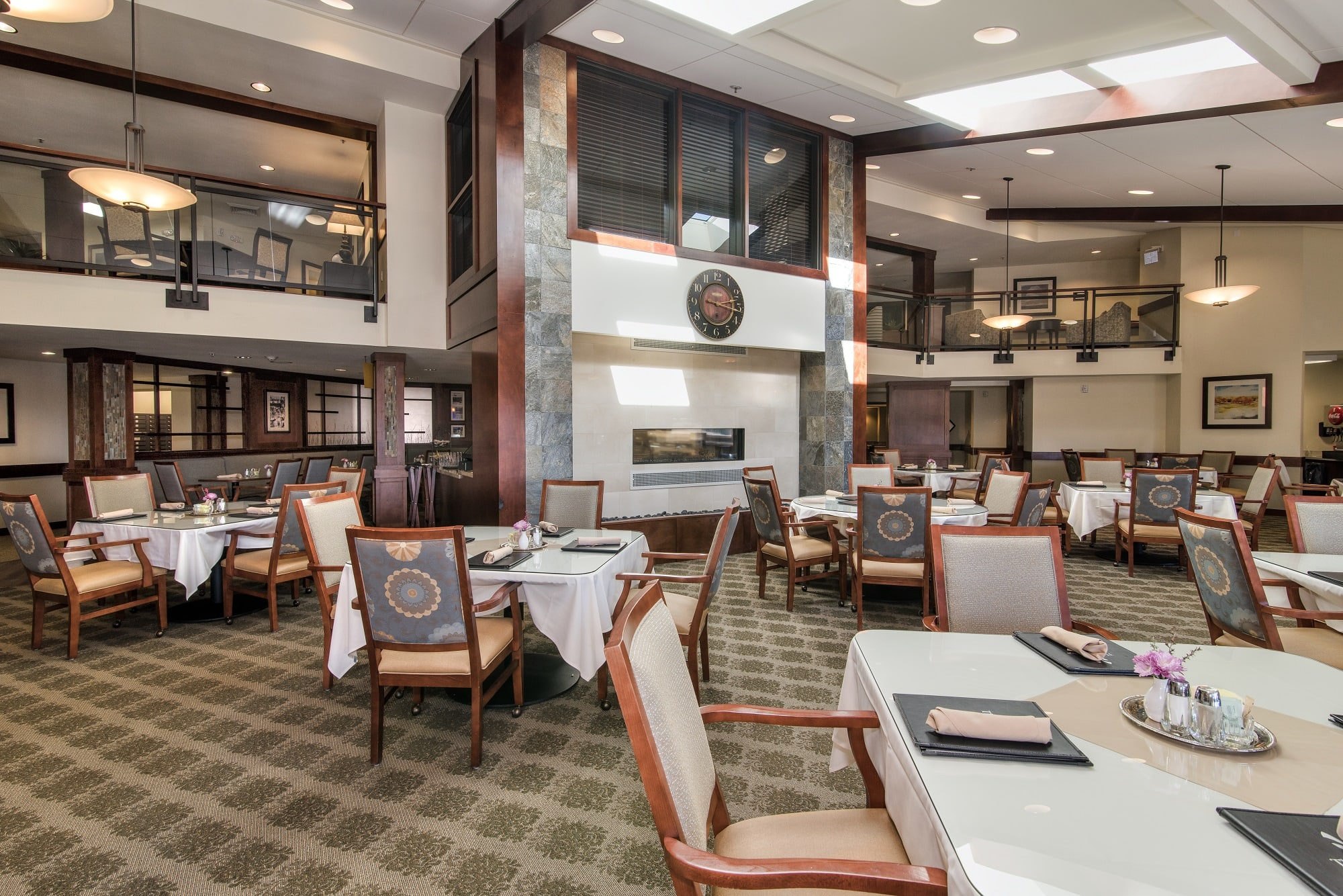 Enjoy a meal with friends in our beautiful dining room