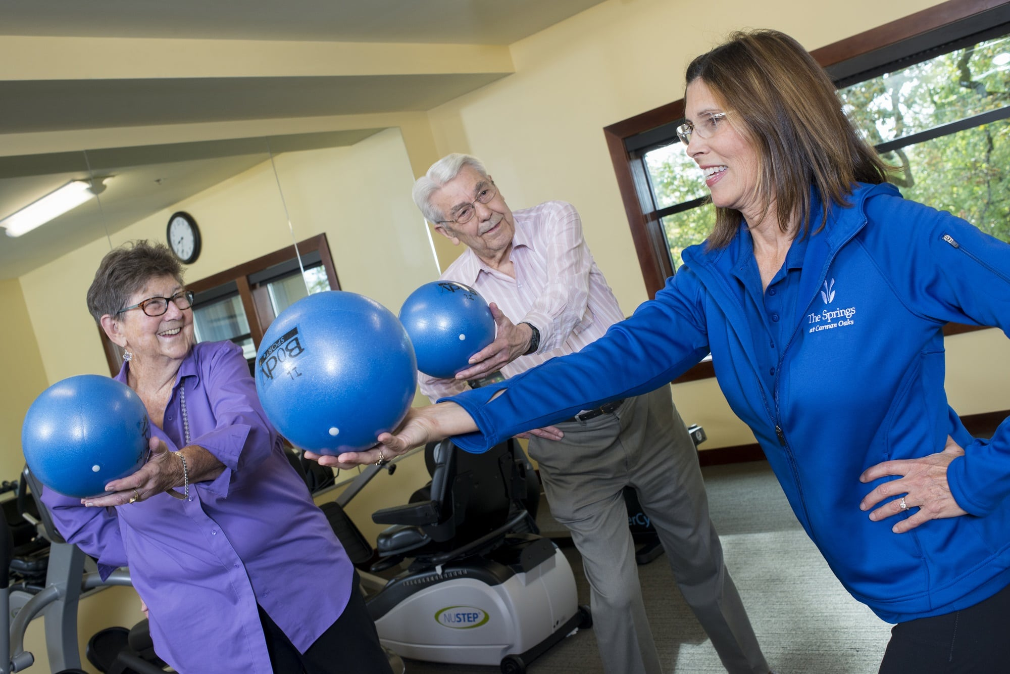 Enjoy a fitness class in our senior living community in Lake Oswego, OR