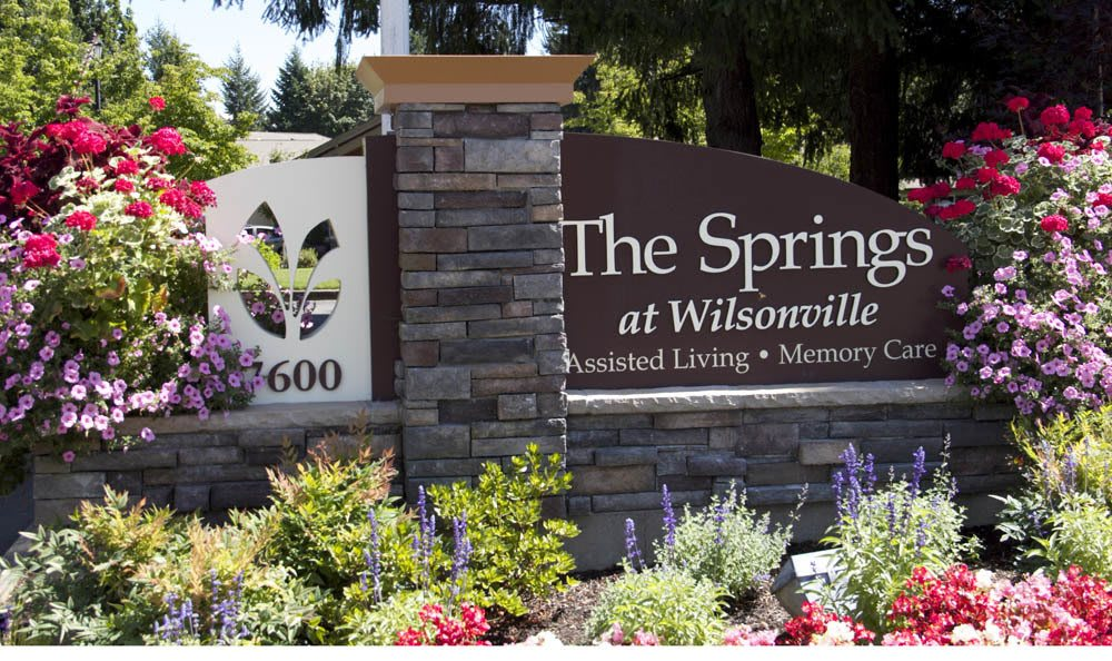 Wilsonville, OR Senior living facility sign
