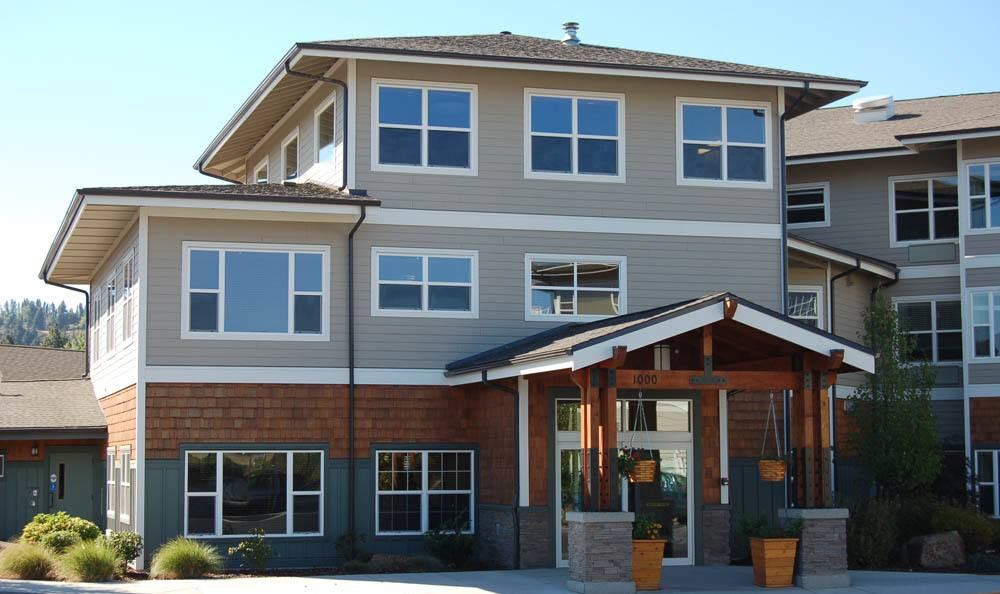 Front exterior of senior living facility in The Dalles, OR