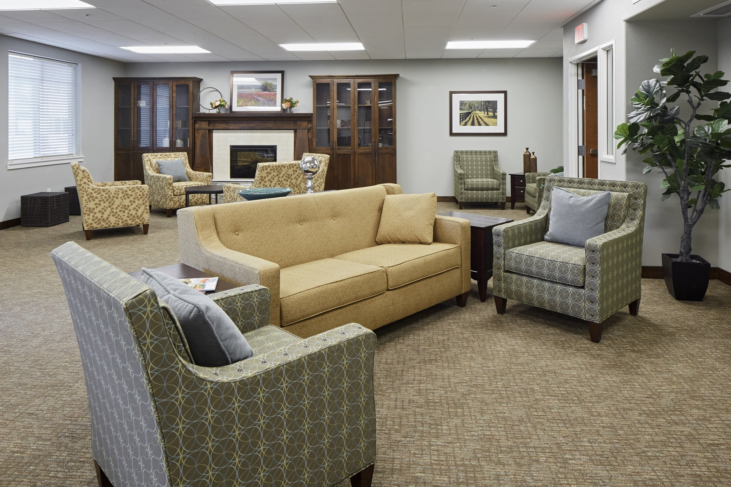 Enjoy a quiet afternoon in our senior living community in Medford, OR