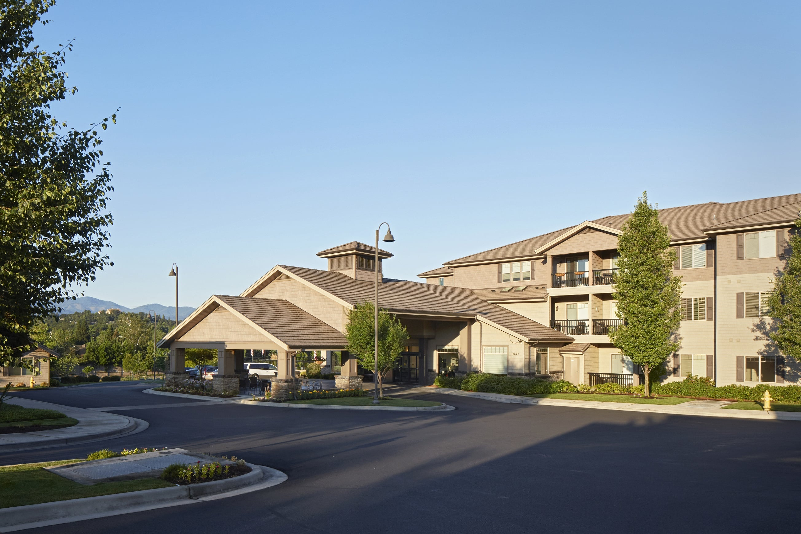 Exterior of our senior living facility in Medford, OR