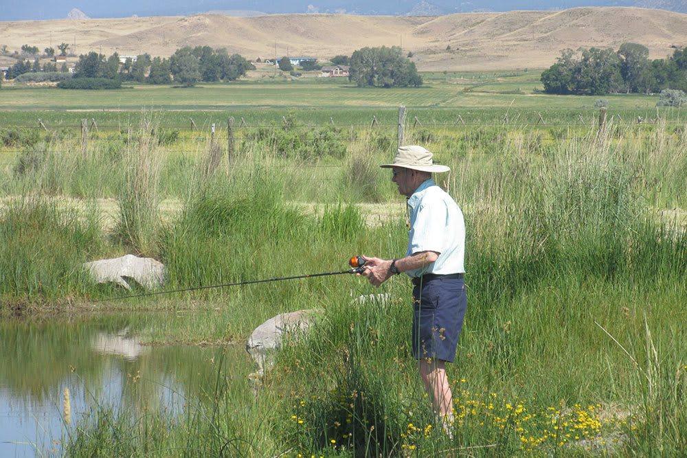 Fishing near our senior living community