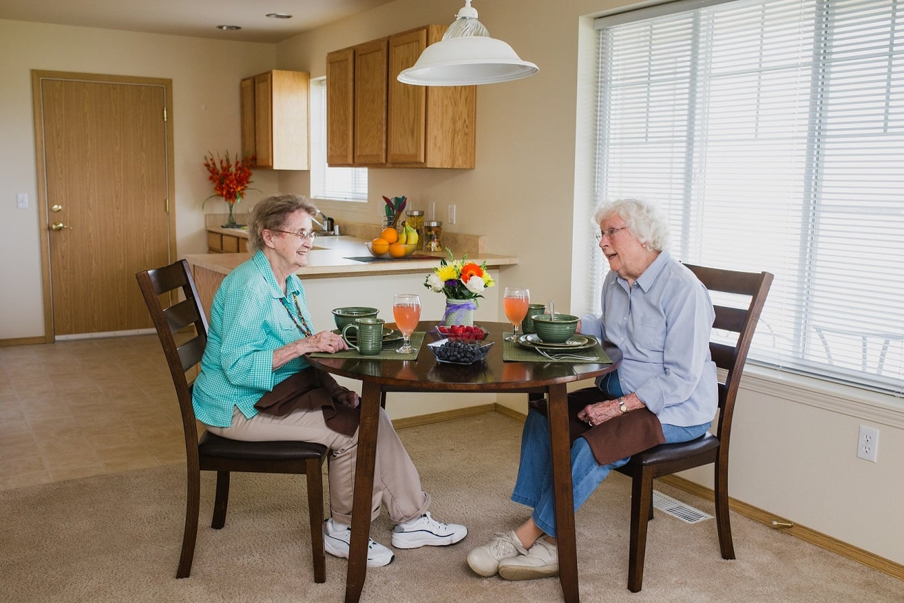 Enjoy quiet moments with friends at our Senior Living community in Butte, MT