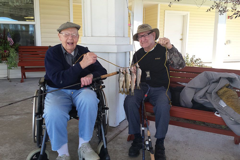 Senior activities include fishing trips