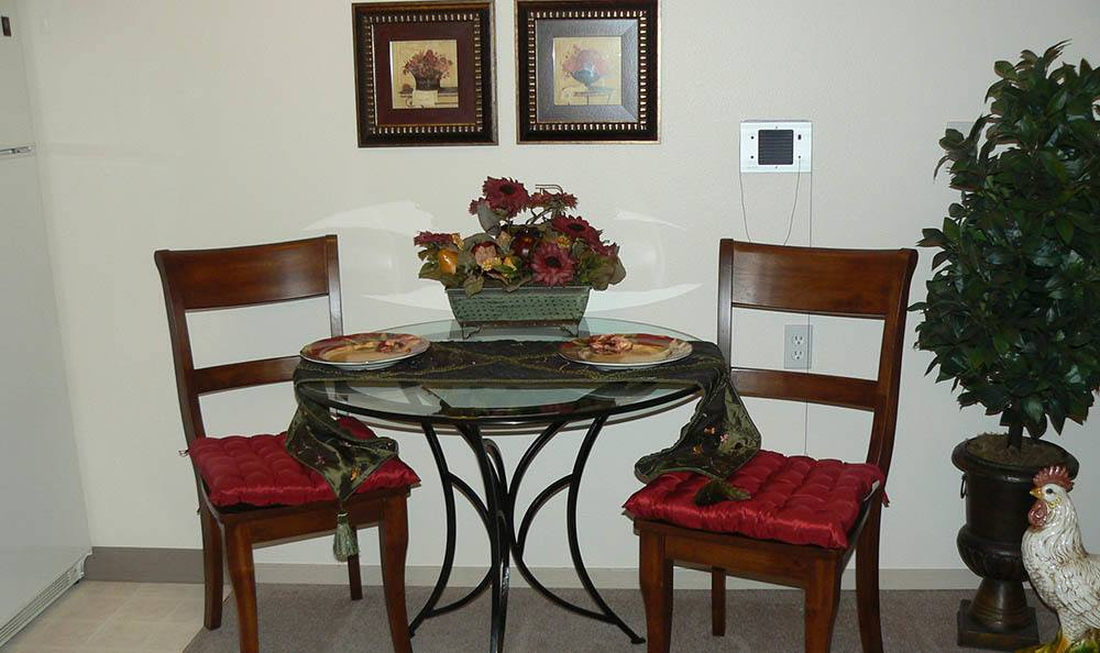 Eating Area At Our Senior Living Facility In Billings Mt