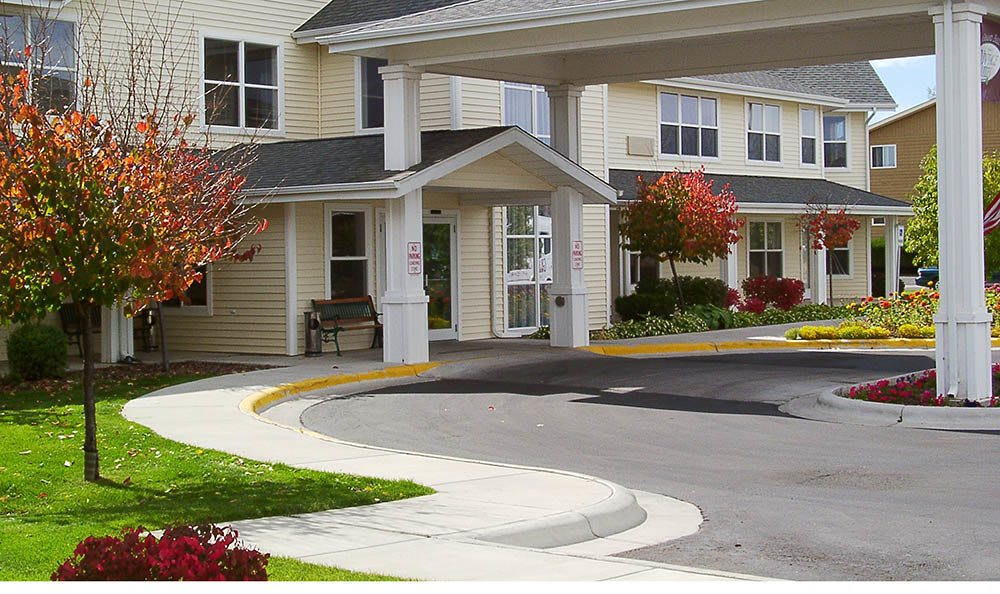 Entrance To Our Senior Living Facility In Billing Mt