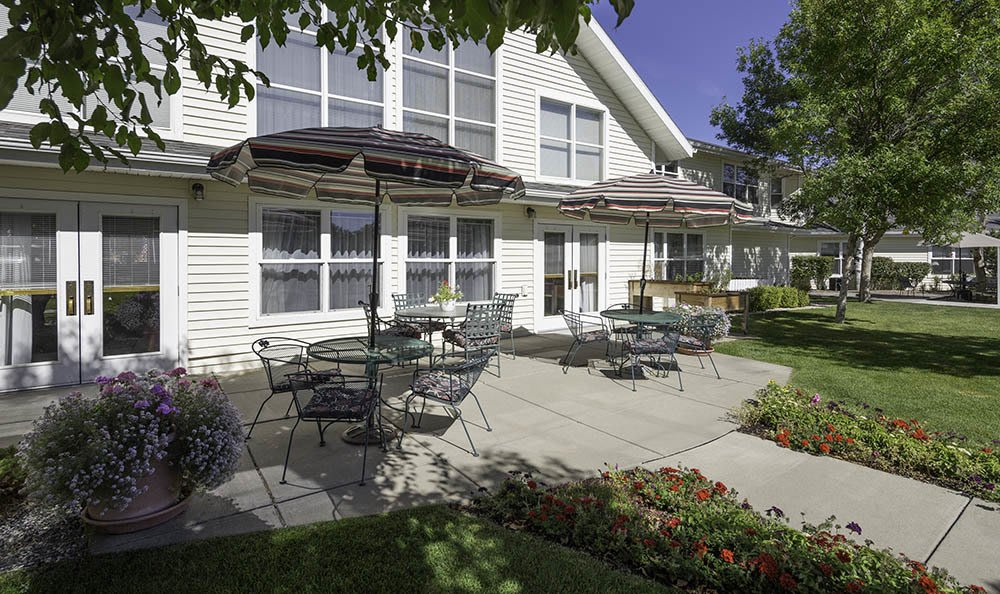 Well Manicured Grounds At Our Senior Living Facility In Billing Mt