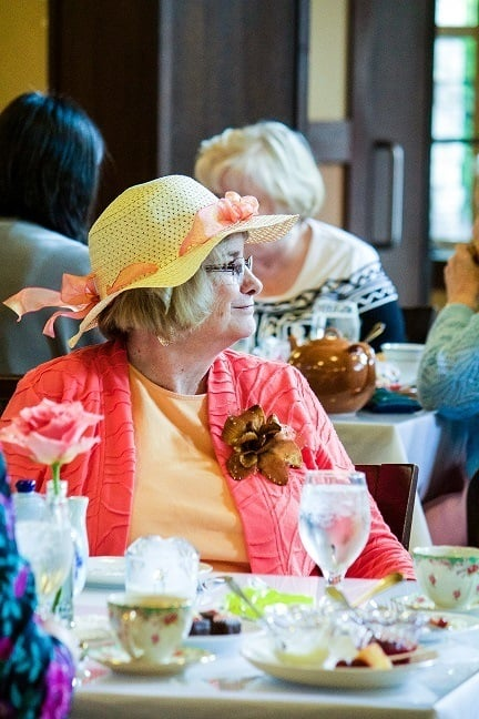 Residents enjoy time together and with families at high tea