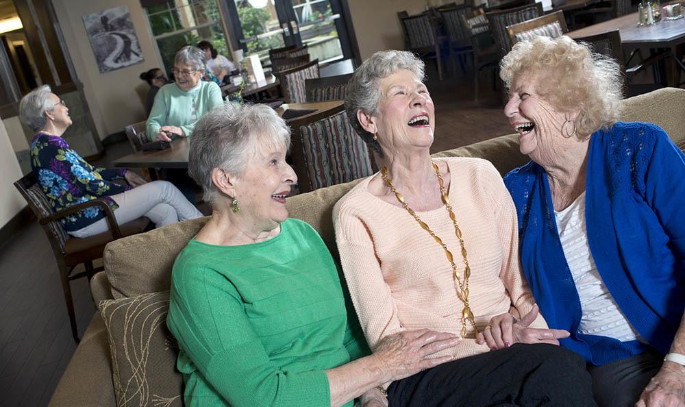Friends and laughs abound at our Hillsboro, OR senior living facility
