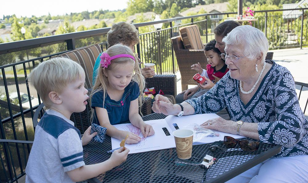 Enjoy time with all of the special ones in your life at our senior living facility in Hillsboro