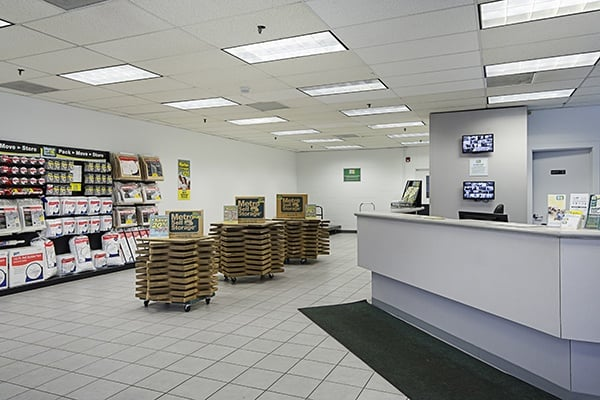 Interior view reception at Metro Self Storage in Chicago, Illinois