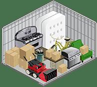 10x10 foot self storage unit