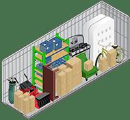 5x15 foot self storage unit