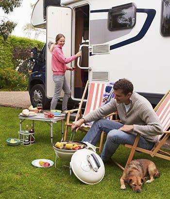 Family enjoying the RV life