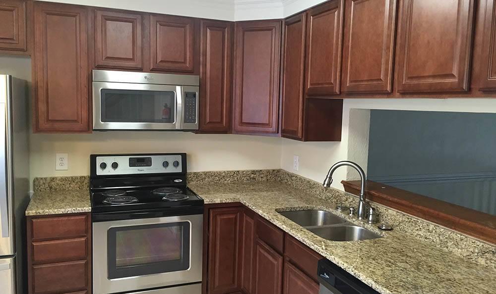 kitchen at Bay Quarter Townhomes in Virginia Beach, VA
