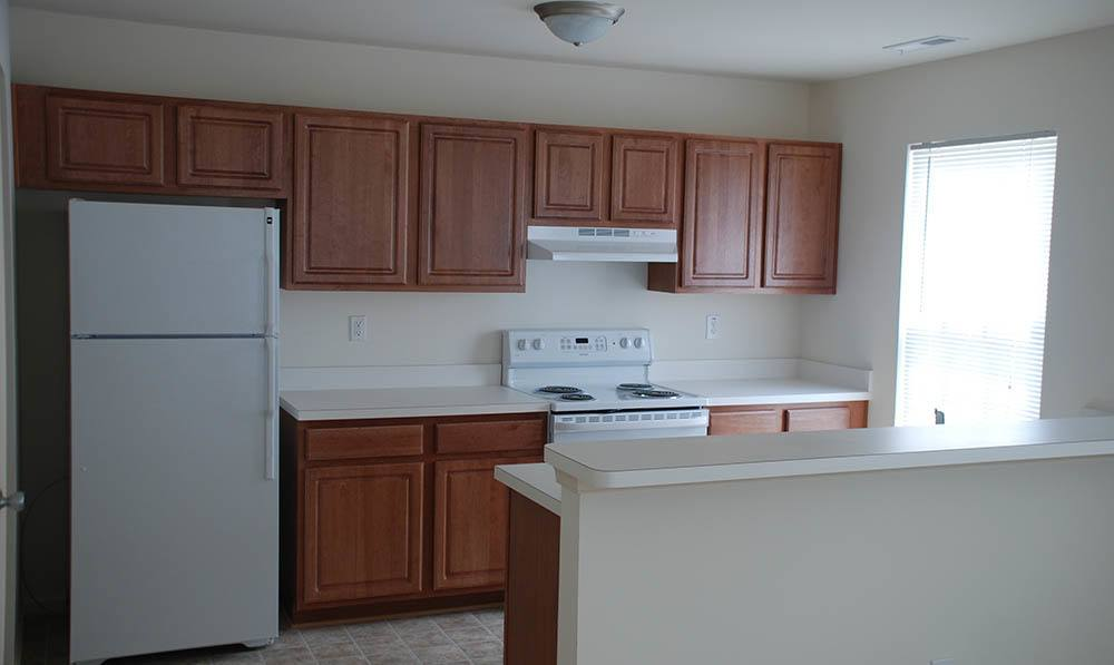 kitchen at Beamon's Mill Townhomes in Suffolk, VA