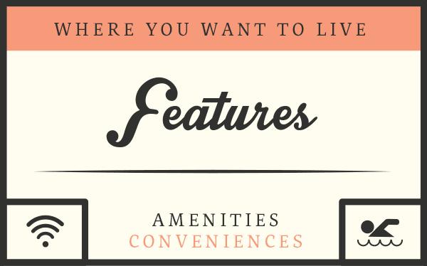 The amenities of Laurel Court Apartments