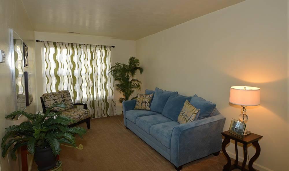 living room at Piper's Landing Apartments in Virginia Beach, VA