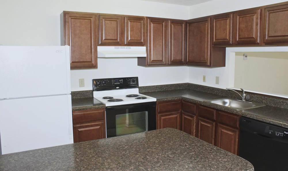 kitchen at Meadowridge Apartments in Franklin, VA