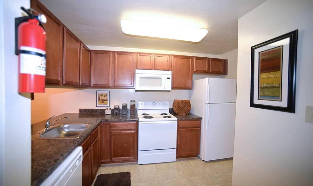 kitchen at Biltmore Commons Apartments in Portsmouth, VA