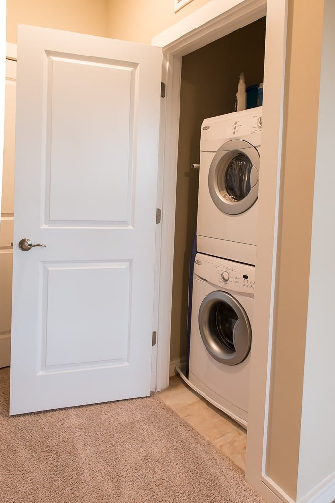 Laundry in unit at the apartments for rent in Canonsburg