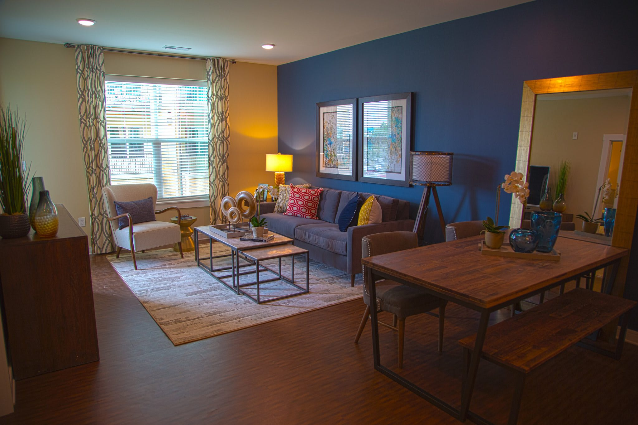 Luxury living area at the apartments for rent in Canonsburg