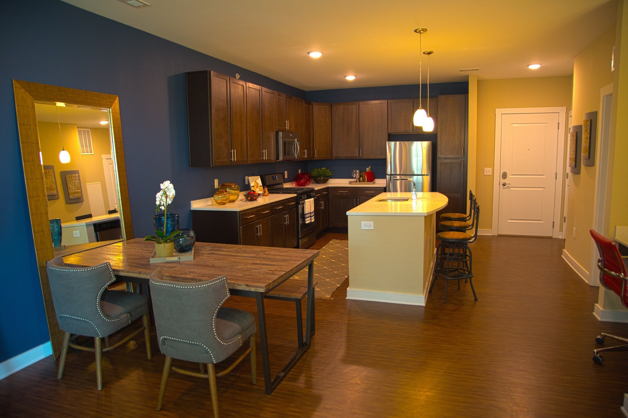Unit kitchen area at the apartments for rent in Canonsburg