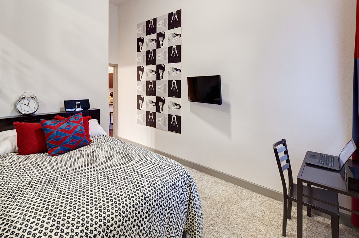When the day is done, get some rest in your spacious bedroom at The Academy at Frisco.