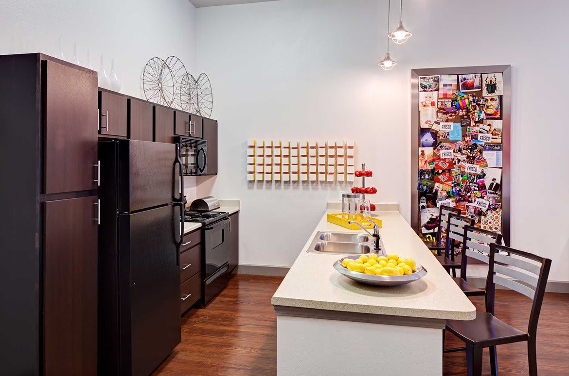 Cook for yourself, or entertain guests in your modern kitchen here at The Academy at Frisco.