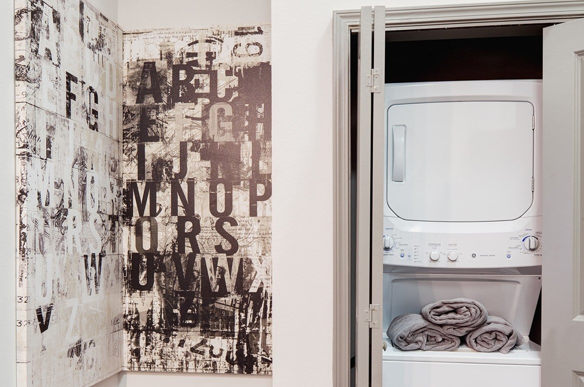 Doing laundry at The Academy at Frisco is easy; every apartment has an in-unit washer and dryer!