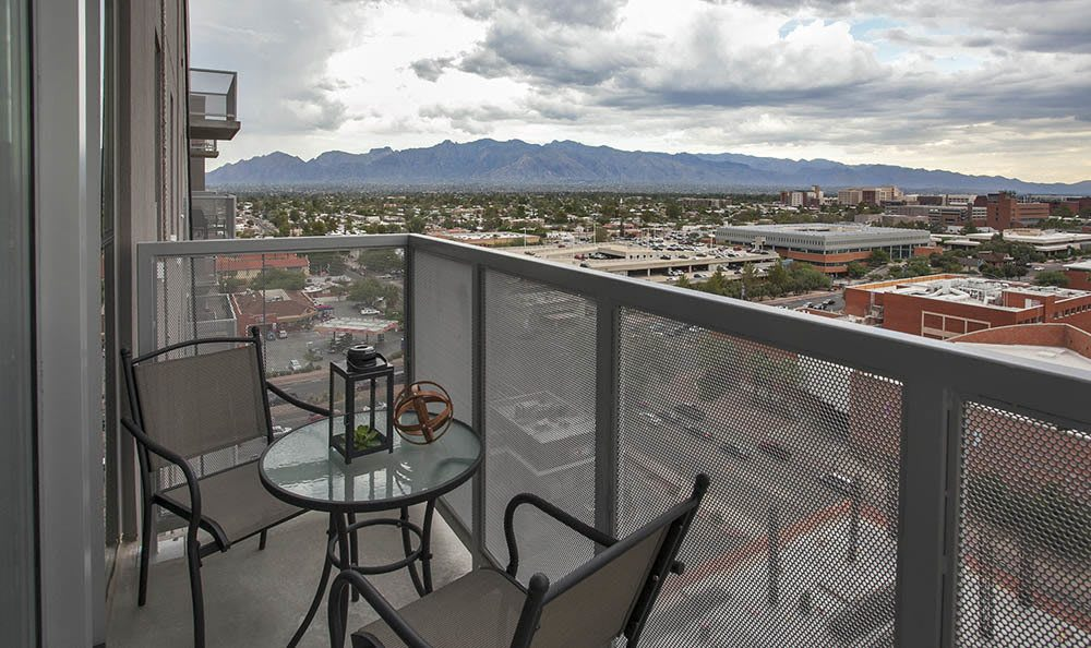 Patio At Apartments Overlooking Downtown Tucson