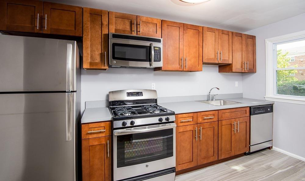 Kitchen at apartments in Springfield, NJ