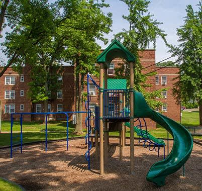 Kids will enjoy the playground at Highland Montgomery
