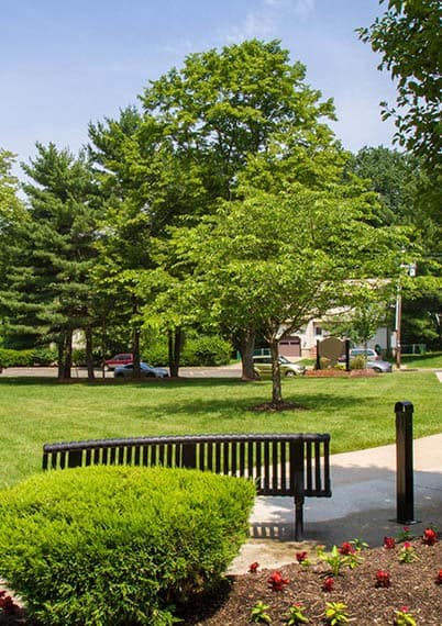 Our community features park-like spaces to help you relax