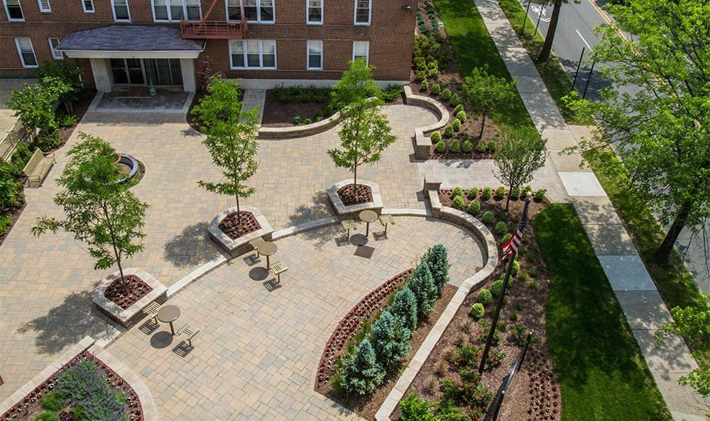 Parktowne Aerial View Of Courtyard in Highland Park, NJ