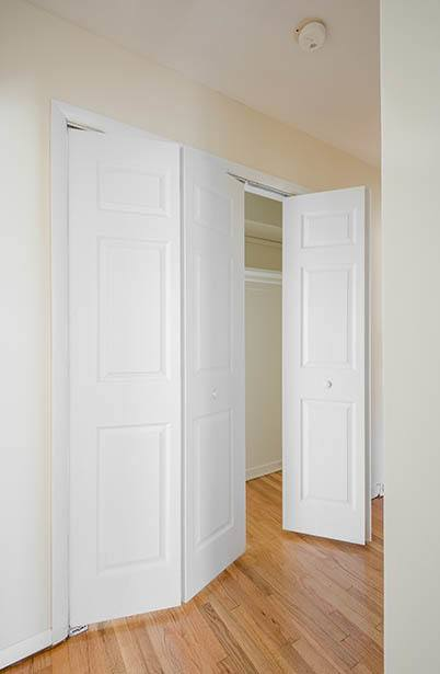 Walk-in closets at Parktowne Apartments