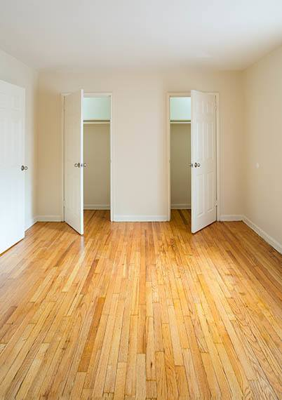 Hardwood floors at Orchard Gardens Apartments