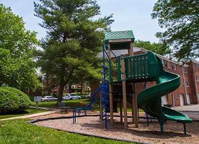 Kids will enjoy the playground at Orchard Gardens Apartments