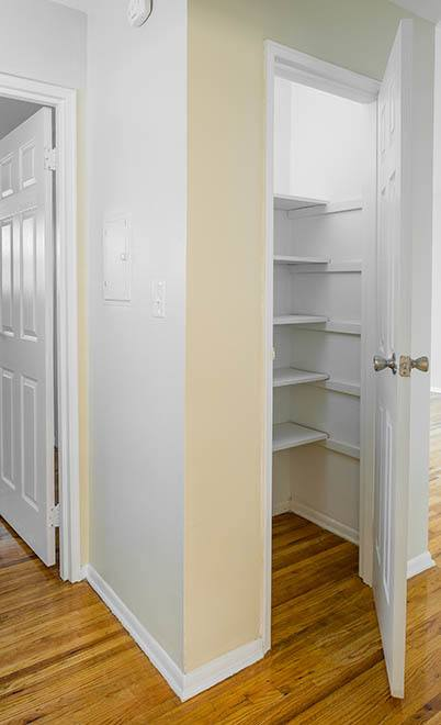 Closet space at Douglass Gardens Apartments