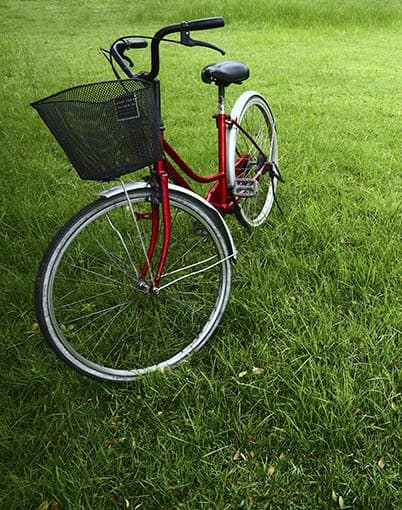Bike in the park near Douglass Gardens Apartments